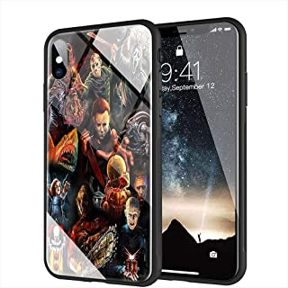 iPhone 6 Case, iPhone 6s Case, Tempered Glass Back Cover Soft Silicone Bumper Compatible with iPhone 6/6s AMB-19 Horror Collection
