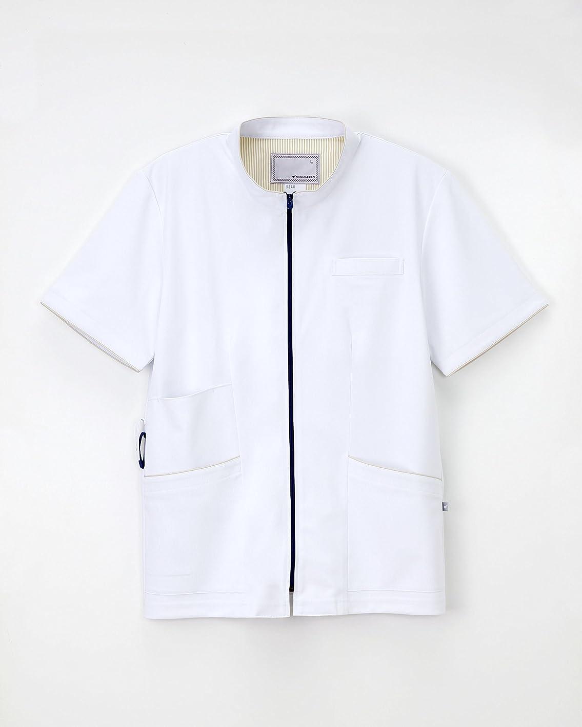 船尾グラフ縫う医療用ユニフォーム 男子上衣 LX-3737(S)TベージュRB TベーRB