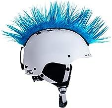 f Helmirokese// Helm Punk Iro// Irokese// Helmaufsatz Roller// Motorradhelm Gelb