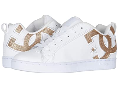 DC Court Graffik SE W (White/White/Metallic Gold) Women