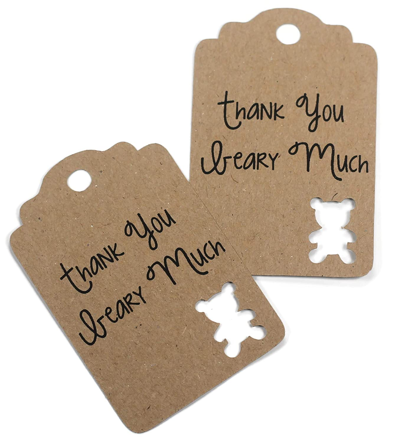 We OFFer at cheap prices Kraft Brown Ranking TOP1 Teddy Bear Gift Tags - Favors Yo Thank Baby Shower