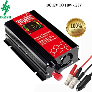 Chaomin Car Power Inverter 500W DC 12V to 110V 120V AC Voltage Converter Adapter with Dual USB 4.2A Car Charger and LCD Display
