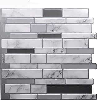 Vamos Tile Premium Anti Mold Peel and Stick Tile Backsplash,Stick On Backsplash Wall Tiles for Kitchen & Bathroom-Removable,Self Adhesive-10.62
