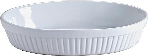 Mason Cash Classic Collection Stoneware Oval Dish, 28.6X 18.9X 6cms, White 28424