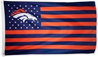 WHGJ Denver Broncos NFL 3x5 FT Flag Super Bowl Stars and Stripes Indoor/Outdoor Sports Banner