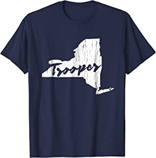 New York State Trooper Distressed Graphic T-shirt