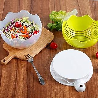 Trancheuse Mandoline coupe-légumes Veggie Dicer Salade De Coupe Bol Avec Couvercle Multifonctions Coupe-légumes Fruits Et ...