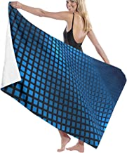 Blue Textile Wave Design Premium 100% Polyester Large Beach Towel, Suitable for Hotel, Swimming Pool, Gym, Beach, Natural,...
