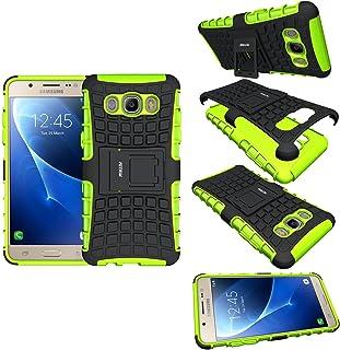 Funda Samsung Galaxy J5 , Fetrim soporte Proteccion Cáscara Cases Capa TPU + plastico Anti de Protectora para Samsung Galaxy J5 2016 - Verde
