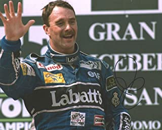 Photo Nigel Mansell Autograph Signed 8 x 10
