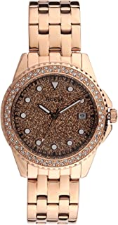 Guess Spritz Quartz Crystal Rose Gold Dial Ladies Watch W1235L3