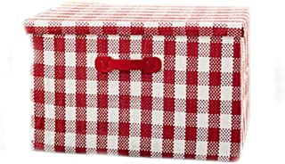 LHY- Panier de rangement for vêtements en tissu Très grand pliant Boîte de rangement couverte Boîte de finition Boîte de r...