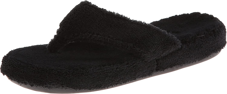 ACORN Woherren Spa Thong, schwarz, X-Large   9.5-10.5 Wide