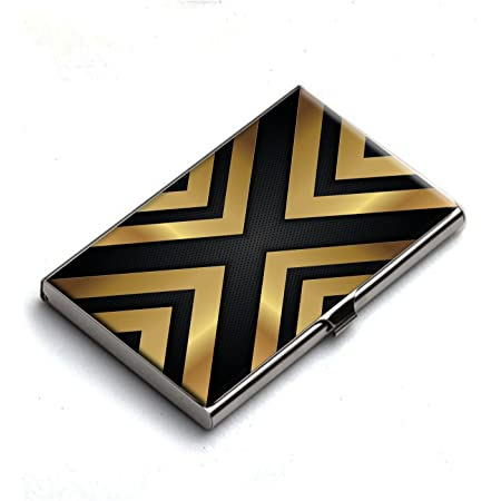 Heartzy XCross Business Card Holder (Golden Black)