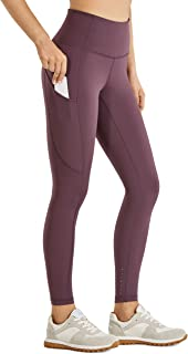 CRZ YOGA Women's Naked Feeling High Waisted Yoga Pants with Pockets Workout Leggings-25 Inches