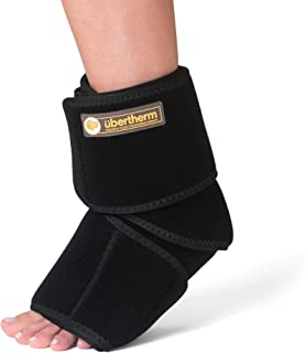 �bertherm Foot and Ankle Ice Pack Wrap with Compression. Patented Ice-Pillow for Ice-Burn-Free Pain Relief from Plantar Fasciitis, Achilles Tendonitis, and Sports Injury Pain. 1-Year Warranty.