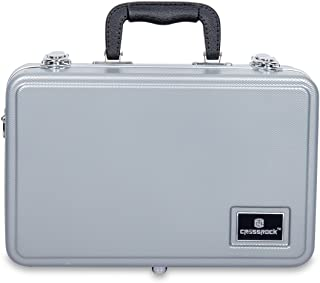 Crossrock CRA860CLSL Clarinet Case ABS Molded Hard Shell in Silver