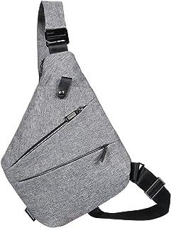 [キャット ハンド] 極薄 ワン ショルダー スリング バッグ 撥水 キャンバス 薄い ボディバッグ 斜めがけ メンズ