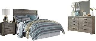Ashley Culverbach 4PC Queen Panel Headboard Bedroom Set in Gray