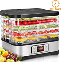 Food Dehydrator Machine, Digital Timer and Temperature Control, 5 Trays, for Jerky/Meat/Beef/Fruit/Vegetable, BPA Free