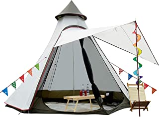 TentHome Vattentäta dubbla lager tipi-tält utomhus camping 3,1 m familjetält pyramider indiskt tält med fast jordark
