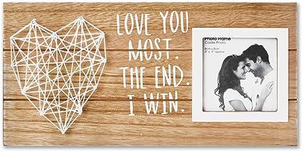 VILIGHT Namorado e namorada, casais, moldura romântica - Love You Most The End I Win Gifts for Him Her Placa rústica para ...