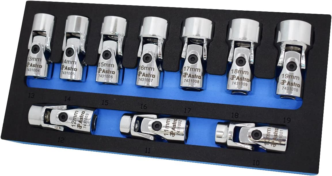 Astro Pneumatic Tool 74310 10-Piece 3 Set Limited Special Price Atlanta Mall Flex Socket 8