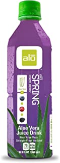 Alo Spring Aloe Vera Juice Drink, Mixed Berry, 16.9 ounce (pack of 12)