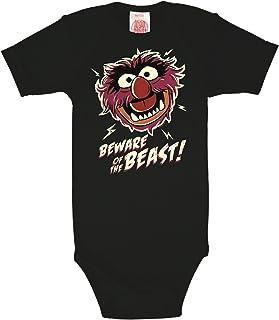Logoshirt Das Tier Baby-Body Kurzarm Junge - Muppet Show - Animal - Beware of The Beast Baby Strampler - schwarz - Lizenziertes Originaldesign