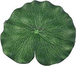 Happyyami 30 Piezas 18CM Simulación Hoja de Loto Flotante Piscina Decoración Agua Decorativa Acuario Peces Estanque Paisaje Hoja de Loto (Verde)