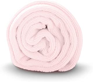 Luxe Beauty Essentials Microfiber Hair Towel For Drying Curly, Long & Thick Hair- Large- 20 x 40- Pink