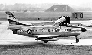 Home Comforts 526th Fighter-Interceptor Squadron North American F-86D Sabre 51-6206 Vivid Imagery Laminated Poster Print 24 x 36