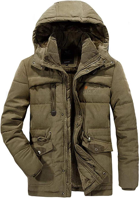 Men's Winter Warm Sherpa Lined Hooded Alternative Down Parka Jacket