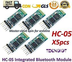 TECNOIOT 5pcs HC-05 Integrated Bluetooth Module Wireless Serial Port Module HC05