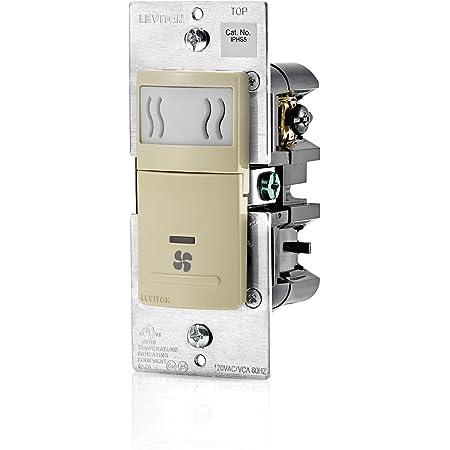 White 3A Leviton IPHS5-1LW Decora In-Wall Humidity Sensor /& Fan Control Single Pole