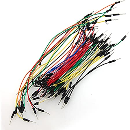 uxcell ブレッドボード ワイヤー ジャンパーワイヤー コネクタライン ケーブル ワイヤ 電子工作用 65本入り