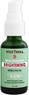 Wild Thera Organic Skin Brightening Oil. Organic Herbal Oil blend, anti-wrinkle blemish reducer, correct dark spots, age spots & blotches. Improve skin lightness, tone and restore complexion.