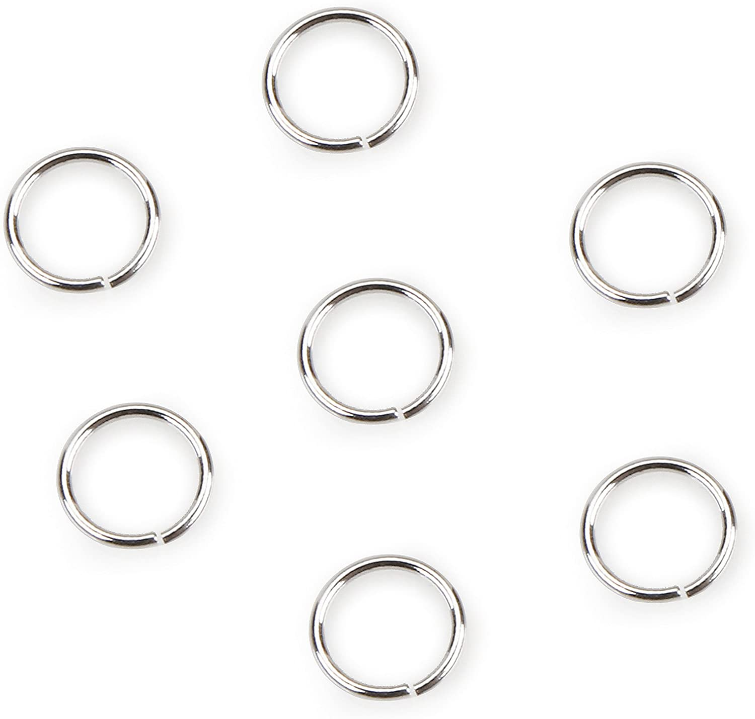 DARICE SPL1013 20-Gauge 5 ☆ Challenge the lowest price popular Sterling Plated Rings Set of 8mm Jump