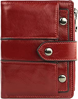 Wallet Women Fashion Leather Walet Female Hasp Coin Purse Photo Holder Wallets Lady,Red