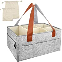 Blisstime Baby Diaper Caddy Organizer Removable Compartments