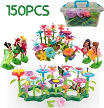 LVEA Build-a-Bouquet Floral Arrangement Playset - BPA Free, Phthalates Free, Creative Play Toys for Gross Motors, Fine Motor Skill Development. Toys and Games (New)