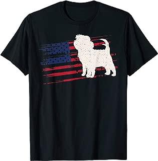 Affenpinscher US American Flag Pet 4th Of July USA Gift T-Shirt