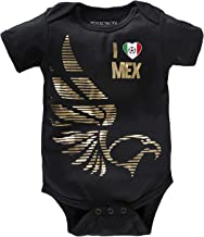Mexico Baby Girls Boys Soccer Onesie Mexican National Fútbol Jersey Infant Eagles Golden Printed Black