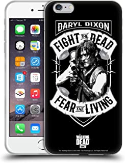 Official AMC The Walking Dead RPG Black White Daryl Dixon Biker Art Soft Gel Case Compatible for iPhone 6 Plus/iPhone 6s Plus