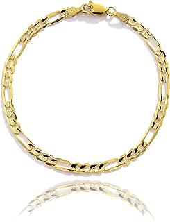 Best 14k gold figaro chain bracelet Reviews