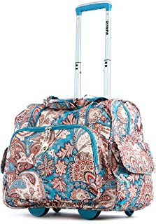 Deluxe Fashion Rolling Overnighter, Paisley, One Size