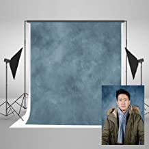 Kate 5ft(W) x7ft(H) Texture Portrait Photography Backdrops for Photographers Microfiber Blue Abstract Old Master Photo Backdrop Professional Head Shots