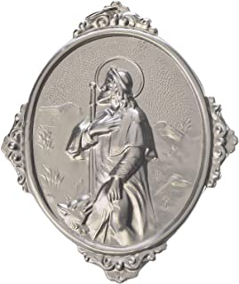 Holyart Medaglione per confraternite San Rocco Metallo, Dorato