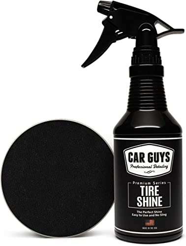 CAR GUYS Tire Shine - Easy to Use Tire Dressing with Applicator Pad - Dry to The Touch with Long Lasting UV Protectio...