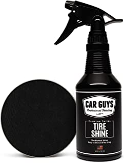 CAR GUYS Tire Shine - Easy to Use Tire Dressing with Applicator Pad - Dry to The Touch with Long Lasting UV Protection - 1...
